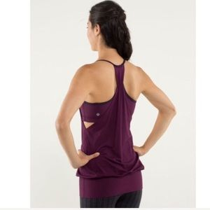 Lululemon No limits Tank Hyper Stripe Plum